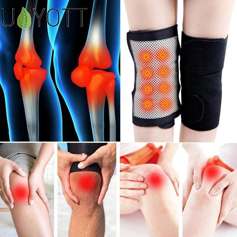 1 Pair Self-heating Knee Pads Tourmaline Magnetic Therapy Arthritis Support Patella Knee Sleeves Pain Relief Health Joints Warm