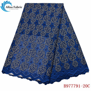 Swiss voile lace in switzerland 5 yards/pcs african lace fabric 2019 high quality cotton fabrics for nigerian party B977791-20C