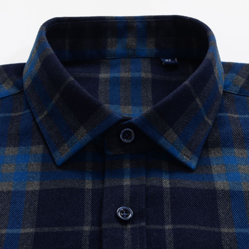 Image 5 - Mens Thick Plaid Shirt 2019 New Classic Style Fashion Casual  Loose Long Sleeved Sanded Shirt Male Large Size 7XL 8XL 9XL 10XLCasual  Shirts