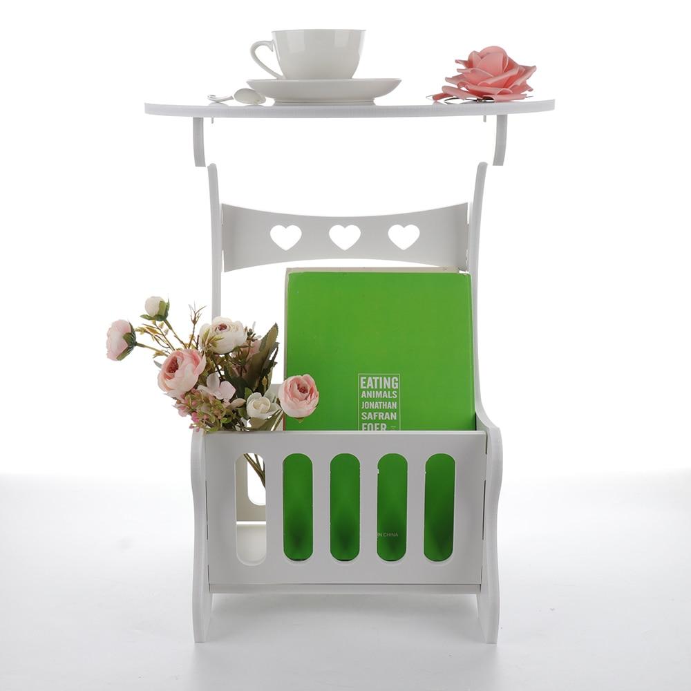 Image 3 - Estante de almacenamiento de madera multifunción, mesa de café, mesa de té, escritorio, almacenamiento de revistas, mesa, hueco tallado    -