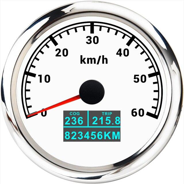 """מד מהירות GPS 3 ב 1 עם בורג טיול סה""""כ קילומטראז 85MM LCD תצוגת מהירות מד מרחק Fit עבור רכב סירה ימי אופנוע 12V 24V"""