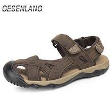 Летние мужские сандалии большого размера; Прогулочная обувь
