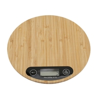 Mini LED Electronic Kitchen Scale Cooking Measuring Tool Digital Round Bamboo Kitchen Scale 5000G|Kitchen Scales| |  -