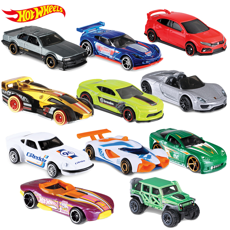 Original Hot Wheels Run Car 1:64 Metal Mini Model Bus Truck Speed And Passion Children Birthday Gifts Brinquedos Toys For Boys