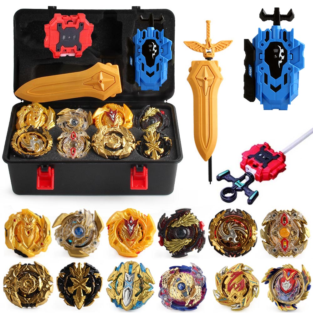 New Beyblade Burst GT Bey Blade Toy Metal Funsion Bayblades Set Storage Box With Launcher Plastic Box Toys For Children 88790