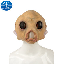MANLUYUNXIAO Scary Alien Heagear Latex Full Face Halloween Masquerade Fancy Dress Party Prop Extraterrestrial