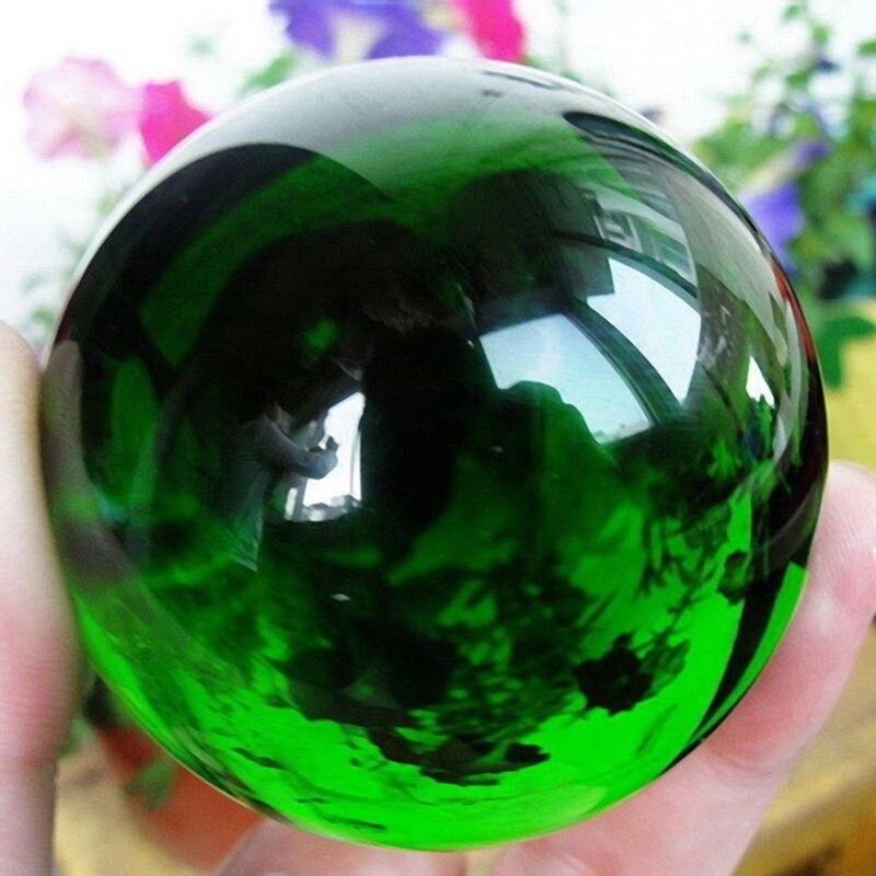 40 мм, Азиатский Редкий Натуральный Зеленый хрустальный шар K9, Волшебная Сфера, лечебный камень, Декор
