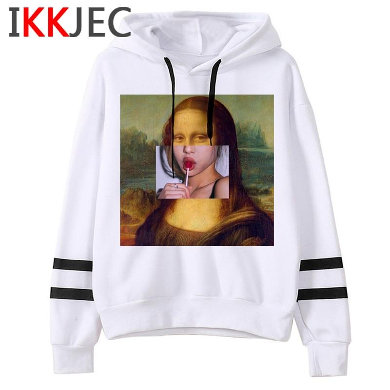 New Mona Lisa Aesthetic Harajuku Funny Cartoon Hoodies Men/women Grunge Ullzang Vintage Sweatshirt 90s Hip Hop Hoody Male/female