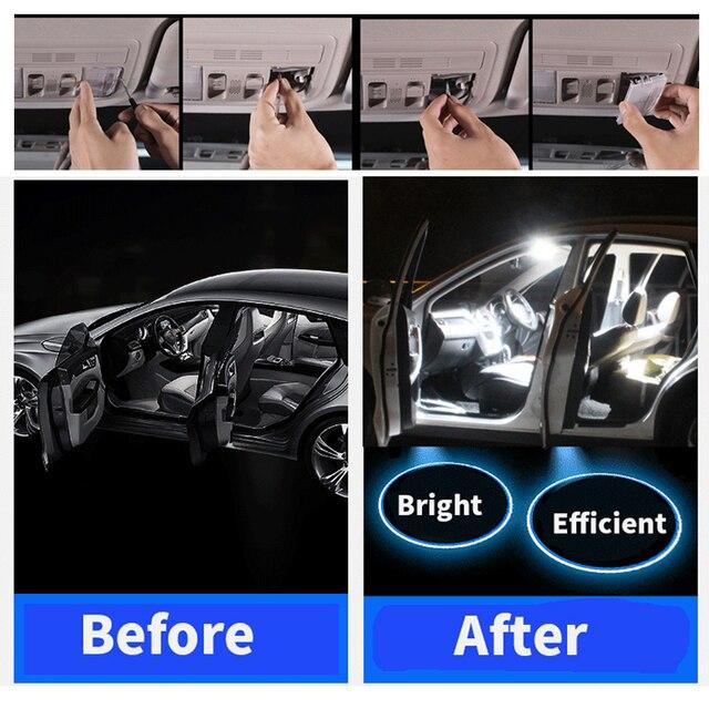 For 2011-2017 Chrysler 200  White car accessories Canbus Error Free LED Interior Light Reading Light Kit Map Dome License Lamp 3