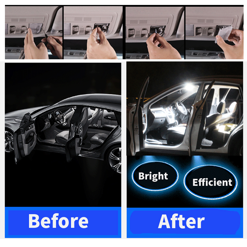 2 шт. белые автомобильные аксессуары F36mm Canbus Error Free светодиодный внутренний светильник чтения светильник комплект Карта Купол лицензии ламп...