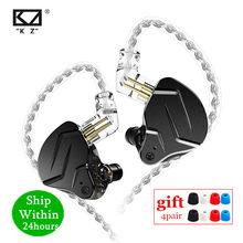 Kz zsn pro x 1ba + 1dd motorista híbrido no ouvido fone de alta fidelidade graves fones monitor metal esporte fone de ouvido kz zstx zsn prox zsx