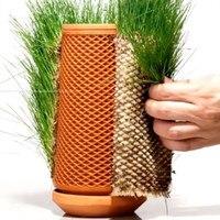Jardinera de terraza con suministro de agua, maceta automática para el hogar, botella hidropónica, maceta para plantas