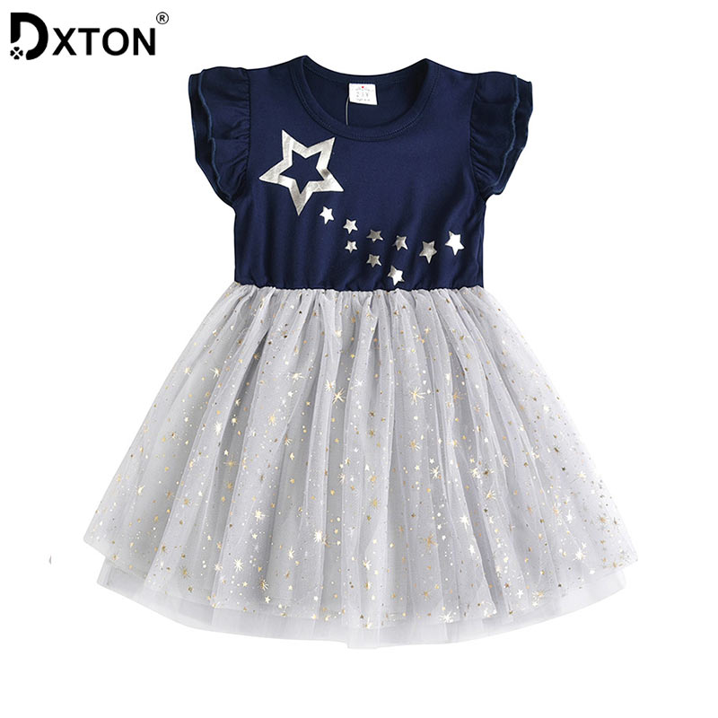 rechange Toddler Kid Baby Girls Long Sleeve Butterfly Floral Print Dress Princess Dress Summer Casual Clothes