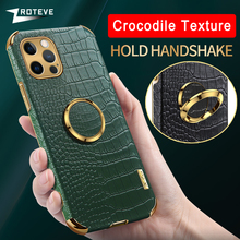 12 Case Zroteve For iPhone 12 11 Pro Max Mini Cover Crocodile Pattern Coque For iPhone X XR XS Max 8 7 6 6S Plus SE 2020 Cases
