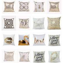 Geometric Cushions Throw-Pillow Christmas-Decorations Lips White Love for Sofa Brozing