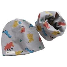 Новая Модная хлопковая детская шапка, шарф, шапка для девочек, комплект для маленьких мальчиков, зимняя теплая шапка для мальчиков и девочек...