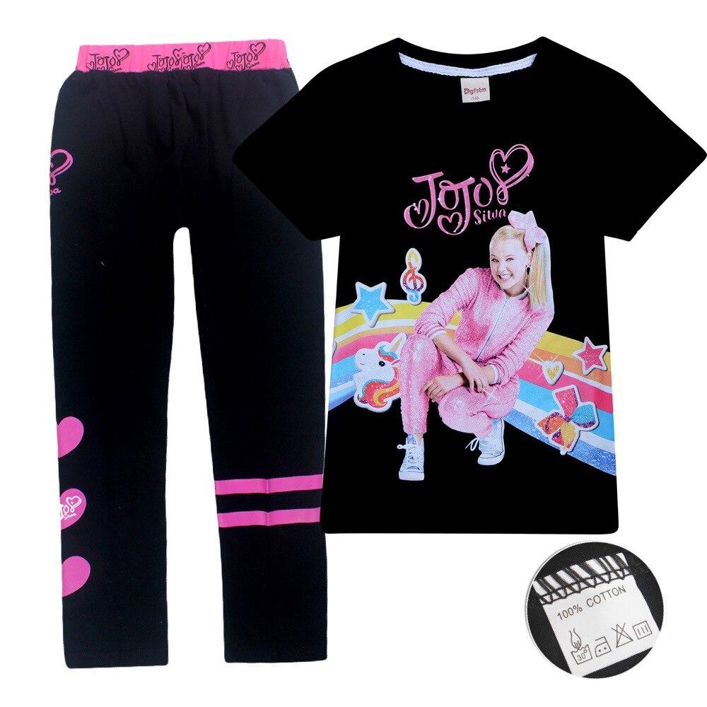 JOJO SIWA/2019 Детские футболки хлопковые футболки для маленьких девочек комплекты с короткими рукавами для мальчиков и девочек футболки Одежда