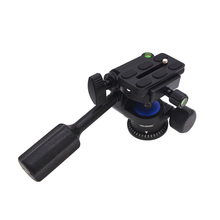 Tripod Fluid Drag Pan Head with Handle 1/4 Quick Release Ball Head for DSLR Cameras OUJ99