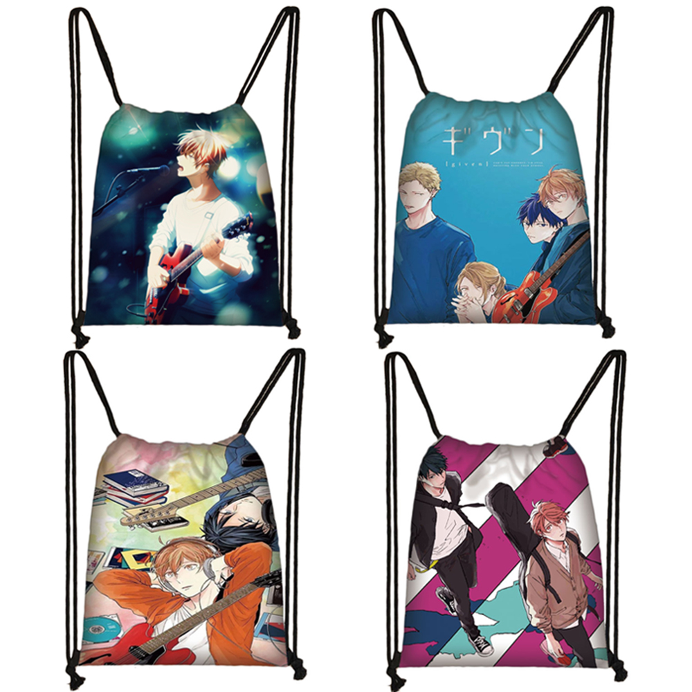Anime Given Sato Mafuyu Drawstring Bag Men Fashion Storage Bag Teenage Softback Backpack Bookbag Gift
