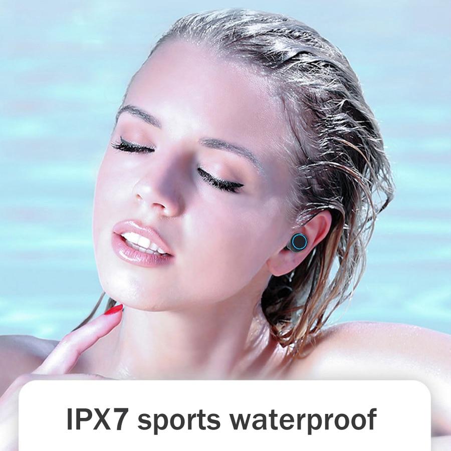 Image 4 - 3500mAh LED Bluetooth Wireless Earphones Headphones Earbuds TWS Touch Control Sport Headset Noise Cancel Earphone HeadphoneBluetooth Earphones & Headphones   -