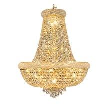 Phube iluminação império francês ouro lustre de cristal cromo lustres iluminação moderna luz + frete grátis!