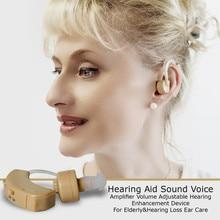 1 sztuk aparat słuchowy wzmacniacz dźwięku głosu usłyszeć jasne mini urządzenie głośności wzmocnienie słuchu dla starszych Yonung głuchy Aids opieki