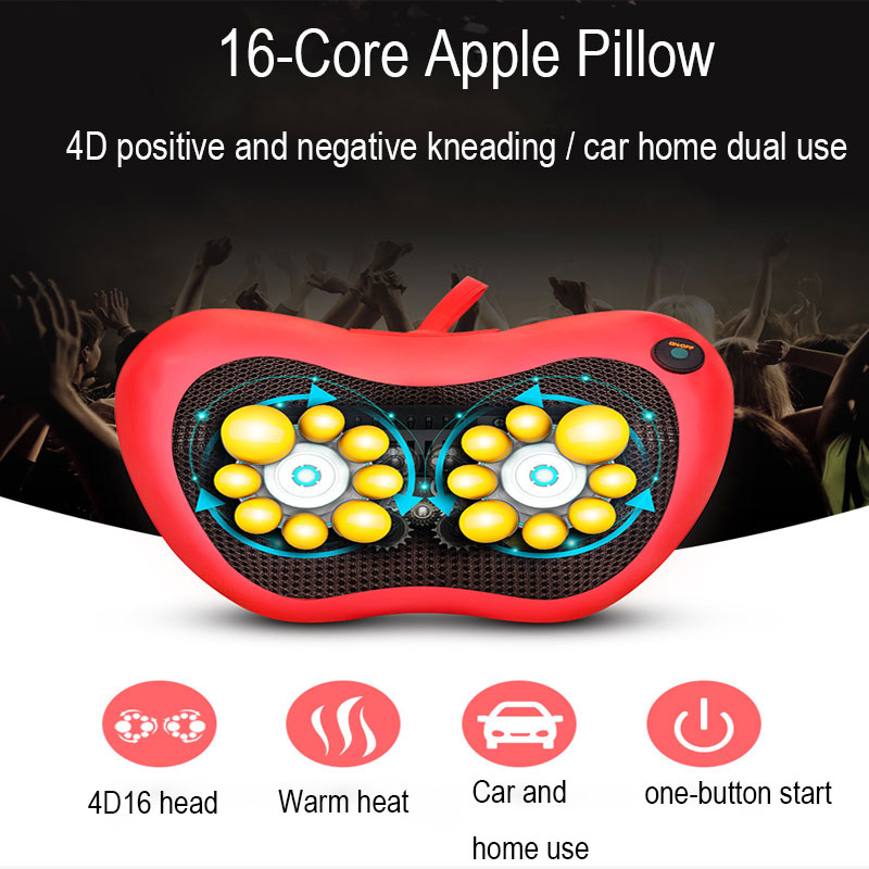 Massage Pillow Massage Cushion Multi-Function Non-Adjustable Home Neck Waist Cervical Massager PU Leather
