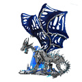 New Super 18K Warcraftied Series Lich Western Frost Dragons Model Building Blocks Game Scene Assembly Bricks Toys for Kids Gifts