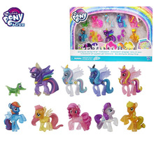 цена на Hasbro Original My Little Pony Action Figure Cute Horse 10pcs/set Rainbow Girl Doll Gift Toy