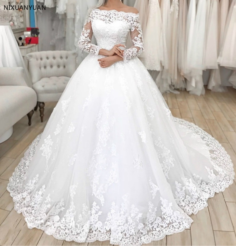 Sexy Women Simple Vintage Abito Da Sposa 2019 Wedding Gowns Wedding Dress Plus Size