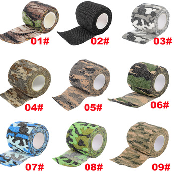 Tactical Camo Tape Camo Stretch Bandage Self-adhesive Camping Hunting Camouflage Tape Military First Aid Bandage german elite m42 ss oak leaves camo hunting smock de 505134
