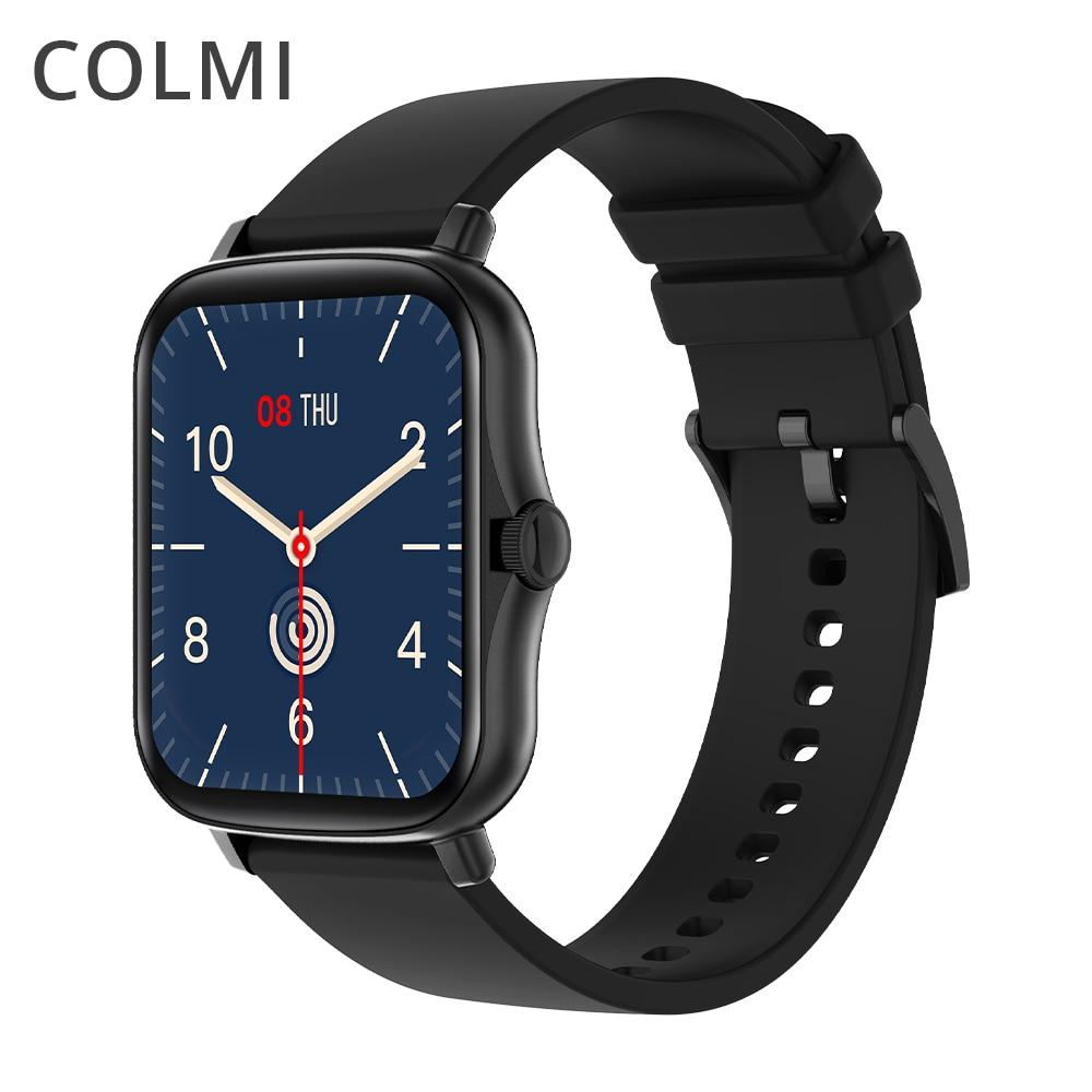 COLMI P8 Plus 1.69 pollici 2021 Smart Watch uomo Full Touch Fitness Tracker IP67 impermeabile donna GTS 2 Smartwatch per telefono Xiaomi 1