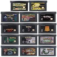 32 Bit Video Game Cartridge Console Card Poke Serie Bliksem Geel Engels Taal Us Versie Voor Nintendo Gba