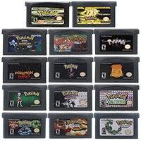 32 бит видео игровая консоль карты Poke серии Lightning желтый Английская литература US версия Для Nintendo GBA