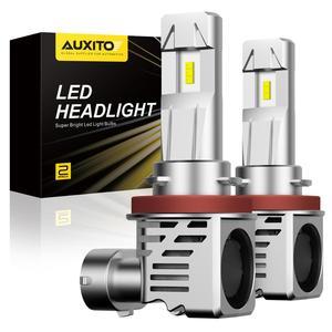 AUXITO Mini H4 Led H7 H11 ZES 6500K 12000LM 60W 9003 H9 H8 LED Bulb HB3 9005 9006 HB4 Car Headlight Bulb Auto Lamp 12V 24V(China)