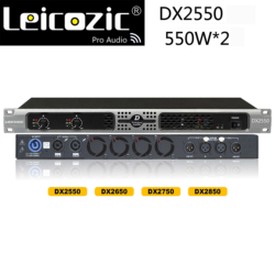 Leicozic DX2550 2x900w RMS 4ohm power amplifiers professional sound amplifiers class d amplifier 1u music amplifier for stage