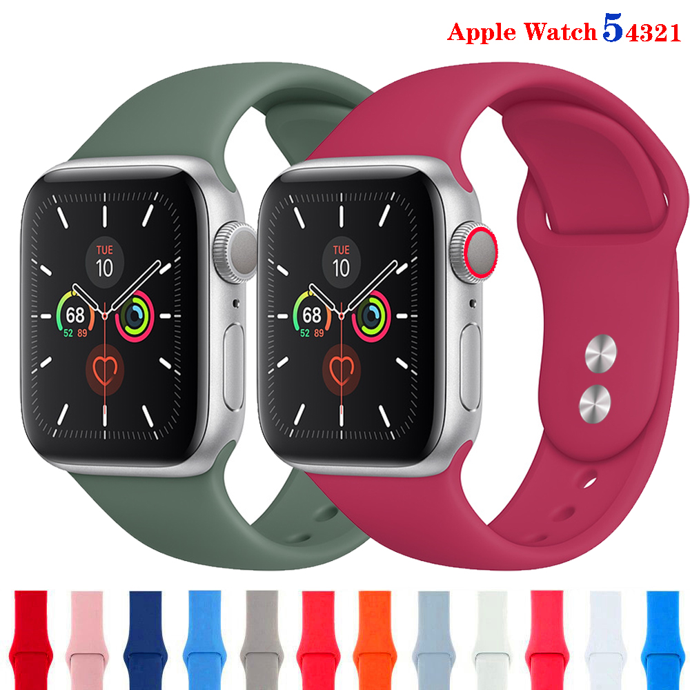 sport strap For Apple Watch band 38mm 40mm iwatch band 42mm 44mm silicone Bracelet Watchband accessories Apple watch 5 4 band 44