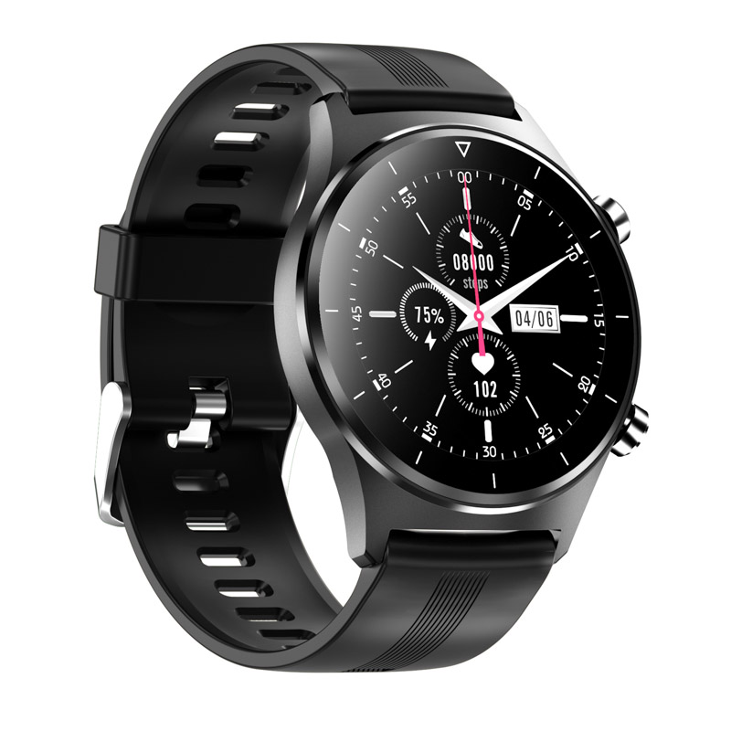 Hafd7739c7e784edc865f480895b2b922O E1-3 Smart Watch Men 1.28 inch Full Touch Screen IP68 Waterproof Bluetooth 5.0 Sports Fitness Tracker Smartwatch For Android IOS
