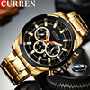 CURREN Man WristWatch Waterproof Chronograph Men Watch Military Top Brand Luxury Gold New Stainless Steel Sport Male Clock 8361
