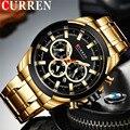 CURREN Mann Armbanduhr Wasserdicht Chronograph Männer Uhr Military Top Marke Luxus Gold Neue Edelstahl Sport Männlichen Uhr 8361