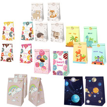 Animal Packaging-Boxes Gift-Bags Candy Birthday-Party Sticker 12pcs with Guests Mix-Type
