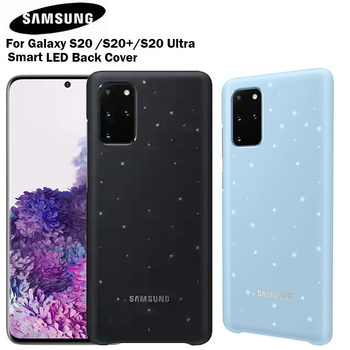 SAMSUNG Original LED Cover for Samsung Galaxy S20 S20Plus S20 Plus S20Ultra S20 Ultra Led Lighting Effect Smart LED Back Cover