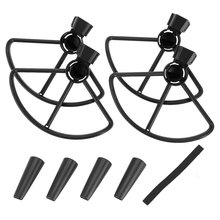 2Pairs Propeller Blade Prop Protection Cover Propellers Protective Guard Protector with Landing Gear for DJI Spark RC Drone
