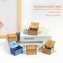 AIBOULLY Star Wars music box movement Game of Thrones Antique Carved wooden Musical Boxes Caja de musica drop shipping