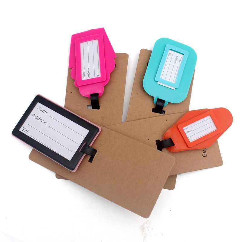 Accesorios de viaje mantener la calma etiqueta de equipaje de moda de las mujeres de Gel de sílice maleta ID dirección titular de equipaje de embarque etiqueta portátil