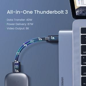Image 3 - Ugreen USB Type C концентратор с двумя USB C на мульти USB 3,0 HDMI для MacBook Pro Air адаптер Thunderbolt 3 док станция USB C 3,1 порт Type C концентратор