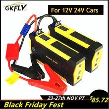 GKFLY Khẩn Cấp 24V 12V Bắt Đầu Từ Thiết Bị 600A Di Động Car Jump Starter Power Bank Sạc Cho Pin Tăng Áp Buster đèn LED