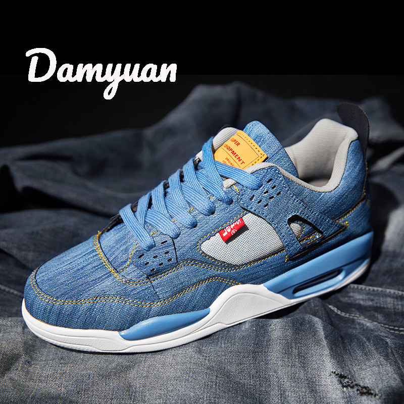 Damyuan 2019 New Fashion Canvas Men Comfortable Breathable Non-leather Casual Lightweight Cowboy Air Cushion Plug Size 46 Shoes
