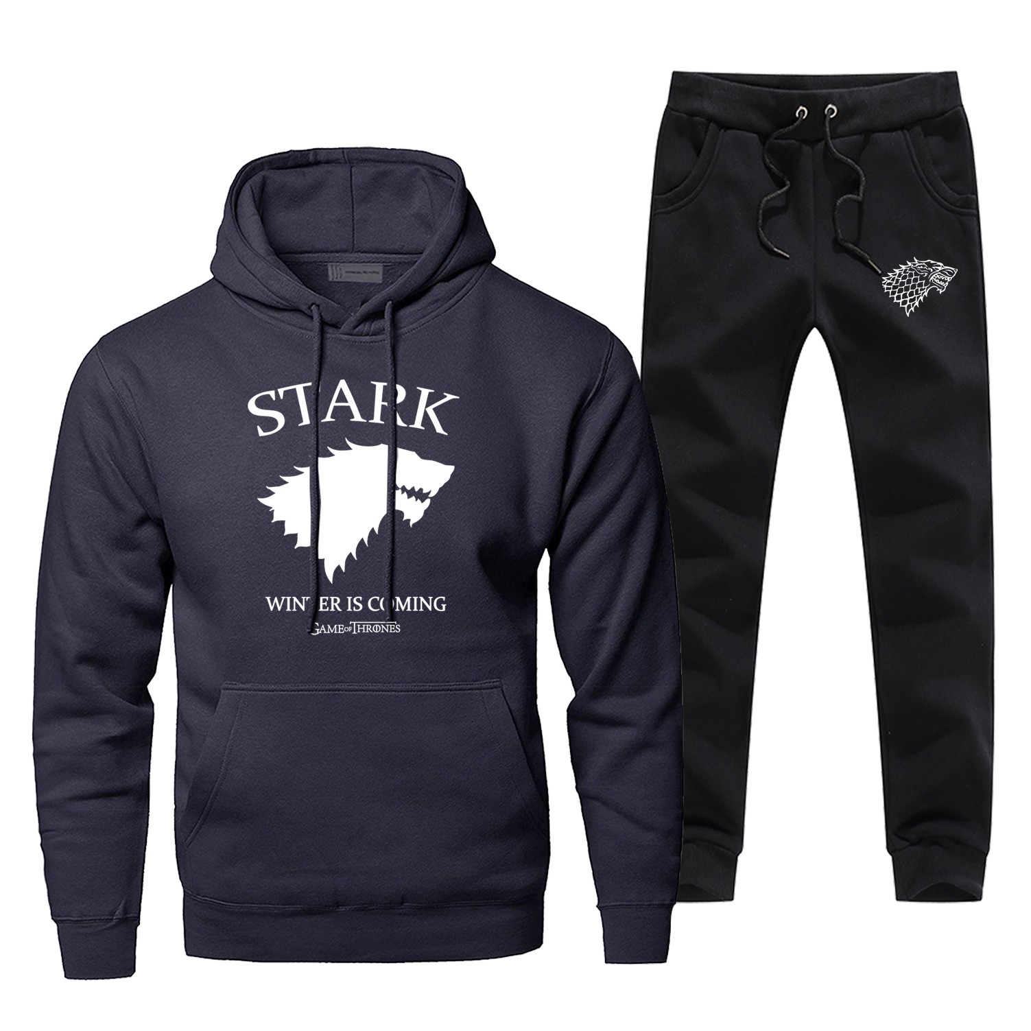 Game Of Thrones Sweatshirt House Stark The Song Of Ice And Fire Winter Is Coming Men's Hoodies Pants Sets Sportswear Sweatpants
