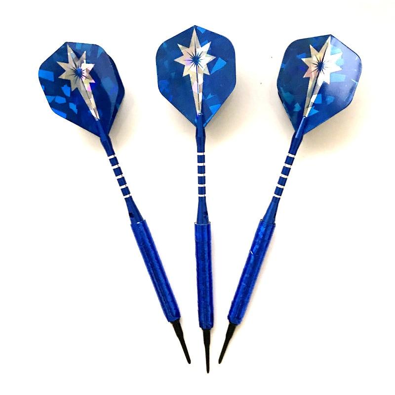 3PCS Blue Dart 14g Safety Soft Darts Indoor Professional Darts Game Electronic Soft Tips